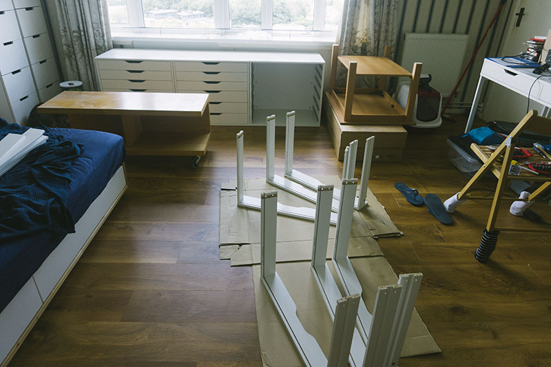 ikea-self-assemby-furniture-mess-assembling-drawers