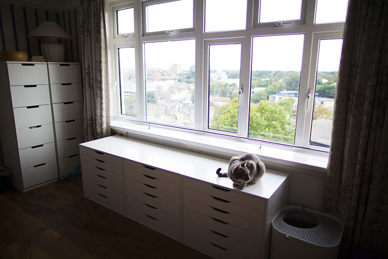 ikea-nordli-dressers-with-ikea-alex-units-window-seating-cat