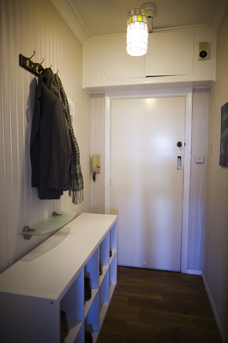 mudroom-entrance-hallway-ikea-kallax-shelf-shoe-rack